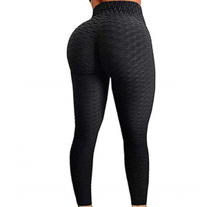 Empurrar de cima Leggings Mulheres Workout Plus Size Jeggings roupa Anti Celulite Legging aptidão Preto Leggins Sexy cintura alta Legins