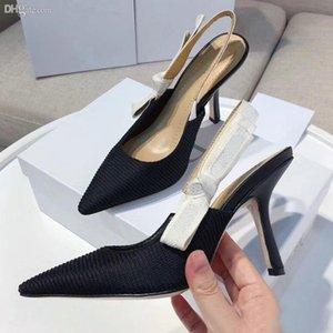 {Оригинальный логотип} техническая ткань сандалии на высоком каблуке сетка остроконечные женские туфли сексуальные дизайнерские роскошные буквы мелкий каблук Обувь