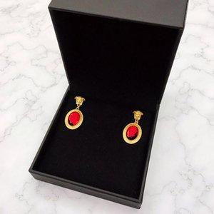 Designer Earring Ruby Earrings Luxury Jewelry Brass Women High Jewelry Christmas Party Gift1