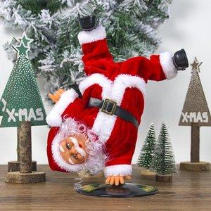 Elettrico bambola Babbo Natale Danza Canto musica Giocattolo automatico Carino Natale della bambola della peluche di Buon Natale delle decorazioni a caldo GGA2801