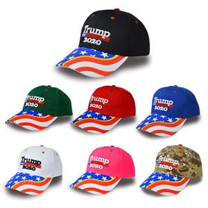 Trump 2020 gorra de béisbol Keep America grande otra vez Sombreros Donald Trump bordado bandera americana Sombrero 2020 Elección de triunfo del casquillo del Snapback BH2094 TQQ