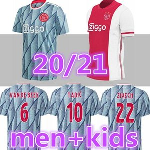 new MEN + KIDS 2020 2021 ajax FC soccer jersey 2020 2021 PROMES VAN DE BEEK DAVID NERES TADIC ZIYECH Afc ajax football shirts