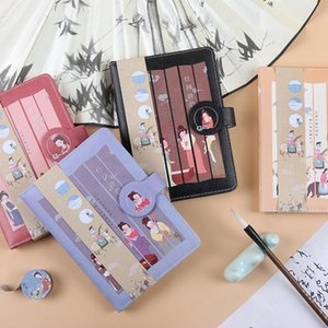 Retro Tang Yun PU magnetic button book cover bronzing notebook Chinese style color book hand book