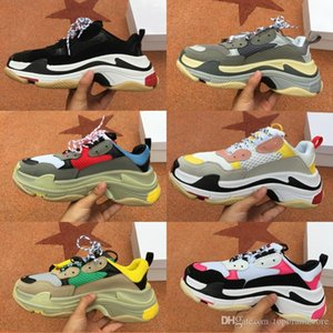 Top Quality 2019 Multi Luxury Triple S Designer Old Dad Fashion Sneaker Combination platform Soles Mens Womens Casual Shoes Size 36-45