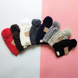 8 Renkler Moda Kadınlar Örme Kapaklar Tığ Örgü Yün Beanie Sıcak Ve Yumuşak Kasketleri Marka Kafatası Caps 90g Toptan