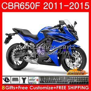 Corpo Para HONDA CBR650F CBR650F 2011 2012 2013 2014 2015 42HC.44 CBR650 F CBR650 CBR 650 F CBR 650F 11 12 13 14 15 16 carenagens azul
