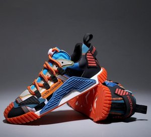 I nuovi uomini e donne NS1 scarpe da ginnastica in materiali misti di design di lusso calza gli uomini e le donne di moda le scarpe da tennis dimensioni di qualità 35-46 con box