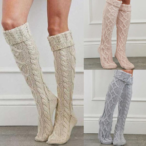 Nouvelle jambe chaud Stocking Femmes hiver Crochet Knit tricot Leg Warmers Cuissardes Legging Boot Cover Hot