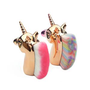 Cepillos del maquillaje del unicornio Base de Maquillaje Rubor Contorno grande hace para arriba los regalos de belleza Moda Herramienta