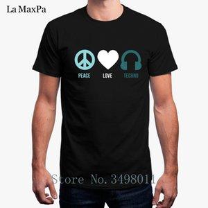Forme la camiseta Para Hombres Tecno Peace Love Techno camiseta de los hombres básicos O Cuello sólido de fitness hombre de la camiseta Modelos De Camisetas