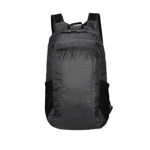 Восхождение спорта на открытом воздухе водонепроницаемый Легкий кемпинга рюкзака Портативный Packable Рюкзак регулируемый ремень Складной Пешеходные