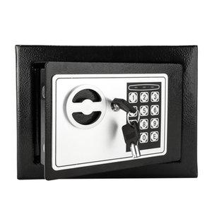 Mini tastiera digitale in acciaio elettronico Cash cassaforte serratura Bill Jewelry Box Home Safe US tasto Stock
