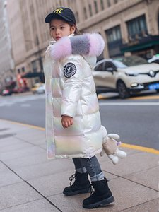 Wholesale New Girl Down Jacket Long Bright Child Children Big Girl Winter Thicken Coat