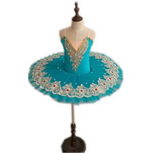 Ballet profesional Tutu Swan Lake Dance Costume Pancake Girls Clásico Ballet Tutu Leotard Dress For Kids