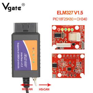 ELM327 V1.5의 USB HS CAN / MS CAN PIC18F25K80 Forscan OBD 2 차 진단 검사 도구 ELM327 V1.5 스위치 OBD2 스캐너 느릅 나무 327