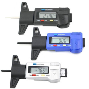Christmas Gift Car Tire Tester Brake Shoe Pad Wear Digital Tyre Depth Gauge Tread Monitor Auto Tires Pressure Measurement