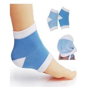Tratamento de Silicone pé Gel calcanhar Meias Hidratante Spa Meias Gel cuidados com os pés Rachado Pé Seco Pele Dura Protetor ST249