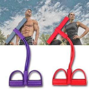 Regolabile push-pull Rope 4-strand Sit-up tenditore Bande multifunzionali Fitness Accessori elastiche per Sport Esercizio 2020