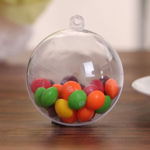 The New Transparent Plastic Ball Christmas Gift Decoration Ball Ring Hollow Ball Food Candy box Environmental Protection Wedding Decoration