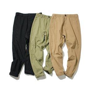 2018 Primavera japonesa de estilo Origional Sólidos Pants cores magros Solta Casual Men Harem Pants Juventude Moda