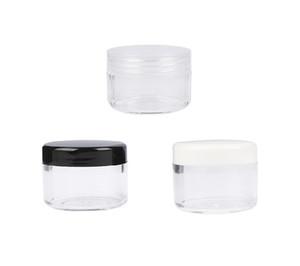 30g 30ml / 1oz Lid recarregáveis Cap Screw plástico com Limpar base vazia Jar Cosméticos para Garrafa prego Pó Sombra Container 5000pcs / lot