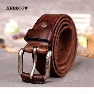 Cow genuine Leather Belts male belt for jeans luxury classice designer strap vintage pin buckle men belts for men dropshipping