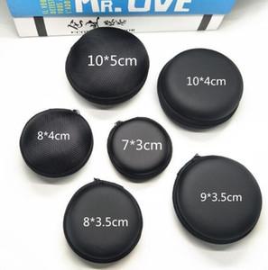 Schwarzer Beutel Aufbewahrungstasche Shell Box Hard Hold-Tasche für Airpods Kopfhörer Kopfhörerzubehör Ohrhörer Speicherkarte USB-Kabel