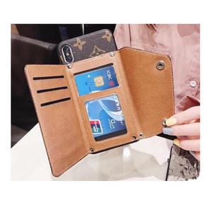Célèbre carte sac à main Designer couverture cas de téléphone de luxe pour iPhone X XR XS Max 8 7 6 6 s Plus portefeuille en cuir Couverture TPU PC Shell peau de coque 508
