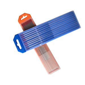 Tig saldatura tungsteno elettrodi 1/16 x 7 Red EWTH-2 10-Pack tungsteno saldatura elettrodo con supporto