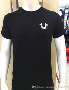 T-shirt da uomo di alta qualità rosso nero bianco Robin True Jeans T-shirt da uomo con ali Real American Jeans Mtorcycle Club Slim manica corta
