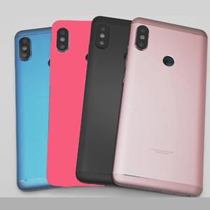 Pour Xiaomi Redmi Note 5 Pro Batterie Couvercle Arrière Couvercle Arrière Logement Porte Redmi Note 5 Clé Latérale Caméra Lentille En Verre Pièces De Rechange ROUGE