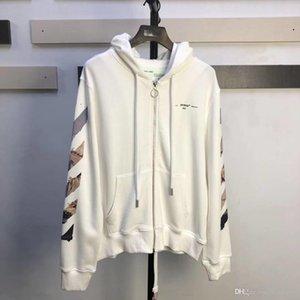 Ok Cardigan Boyama 2020 Yeni KAPALI OW BEYAZ Monet Yağ Hırka Hoodie Hoodie Erkek ve Kadın Gevşek Ceketler Kapüşonlular XS-L Zip