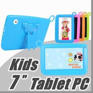 "JT Kids Brand Tablet PC 7"" Quad Core children tablet Android 4.4 Allwinner A33 google player wifi big speaker protective cover M-7PB"