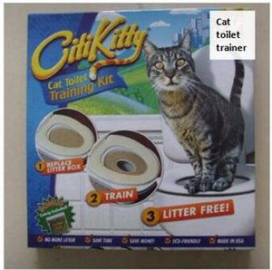 씨티 키티 애완 동물 화장실 트레이너 강아지 고양이 화장실 쓰레기 트레이너 고양이 훈련 드롭 소매 상자를 출하 키트