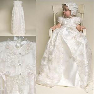 Sıcak Satış Fildişi renk ve Yeni Doğum Günü Uzunluğu Bebek Elbise Bebek Kız Vaftiz Önlükler Bebek Kız Vaftiz Elbiseler
