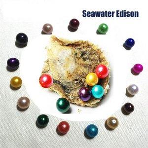 2020 Nuova acqua di mare Oyster con SINGOLO Edison desiderio perle rotonde perla 10-12mm Pearl colori misti di mare Oyster fai da te fabbricazione dei monili
