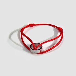 jewelry women bracelets silver Single ring lovers hand red black rope love bracelets for women men charm bracelets Pulseras