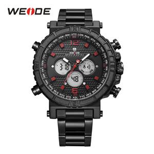 WEIDE Мужчины Бизнес Alarm Chronograph Цифровой Аналоговый металлический корпус ремень ремешок браслет кварцевые наручные часы Relogio Мужчина для