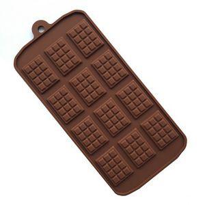 12 Даже шоколад Mold Силиконовые Mold Fondant Формы DIY Candy Bar прессформы торта инструменты украшения кухни Выпечка аксессуары
