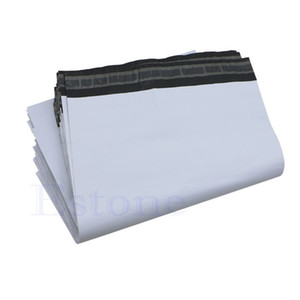 Poly Self Seal Adhesive Express Shipping Bags Courier Mailing Plastic Bags Envelope Mail Post Postal Mailer Bag Alta calidad 17x29cm Blanco