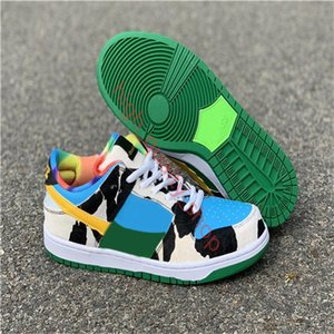 xshfbcl Ben & Jerry's x SB Dunk Low Pro QS Chunky Dunky Basketball Shoes Men Women Lagoon Pulse Black University Gold CU3244-100 Sneakers