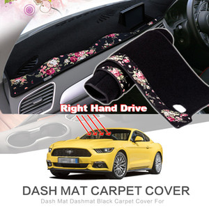 Томмии China Cover Pattern Dashboard Dashmat Ford Mat 2015-2018 Dash Board Автомобиль нескользящая для декоративной площадки Мустанг JLLEU