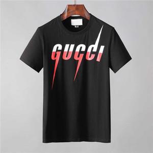 Erkek Tasarımcı T Gömlek Siyah Beyaz Kırmızı Erkek Moda DesignerT Gömlek En Kısa Kollu