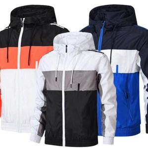 Nuevos deporte corriente chaquetas de béisbol para los hombres a rayas ocasionales de los hombres de impresión con capucha para hombre otoño chaquetas de diseño