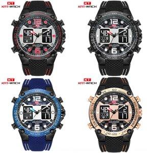 KT717 men's electronic Silica gel quartz multifunctional sports watch waterproof silicone quartz watch