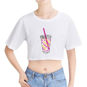 Marque Cotton T-shirt Rholycrown Ice Café éclaboussée Nombril T-shirt Charli Damelio T-shirt Harajuku Girls Hip-hop sexy
