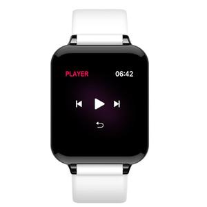 B57 Hombres Mujeres rastreador de ejercicios inteligente impermeable de los relojes de teléfono Deporte IOS Android Temperatura Presión SmartWatch monitor de ritmo cardíaco del cuerpo Sangre