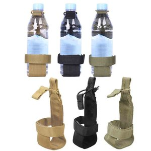 Molle System Nylon Water Bottle Tactical Hiking Camping Molle Water Bottle Holder Belt Carrier Pouch Nylon Bag 7cm x 21cm