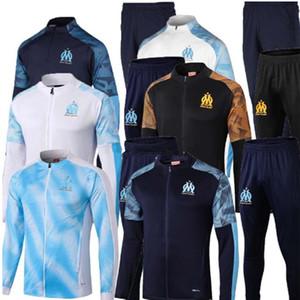 2019 2020 nouvelle Olympique de Marseille Survêtement Veste de football Maillot de Foot 19 20 Veste PAYET L.GUSTAVO OM THAUVIN Football costume de formation