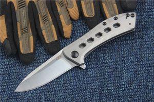 0801 BRZ Складной нож M390 лезвия титана TC4 Ручка Tactical Knives Кемпинг Охота с шарикоподшипником нож выживания EDC инструменты